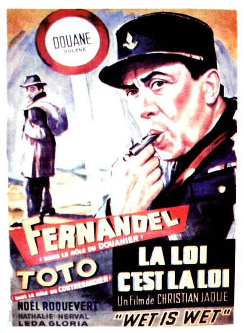 La legge è legge - Belgian Movie Poster