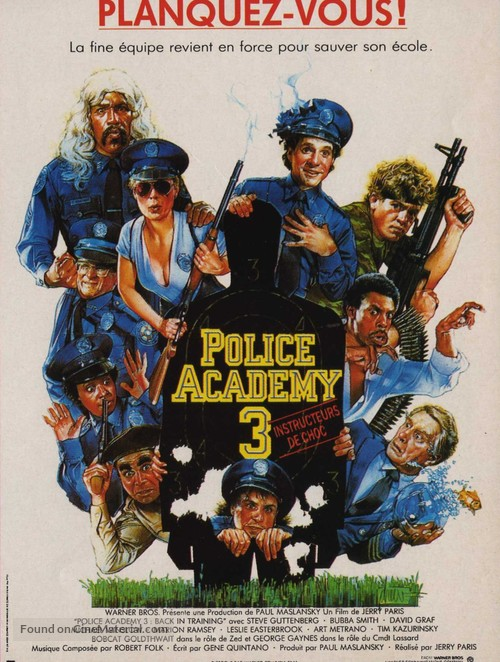 Police Academy 3: Back in Training - French Movie Poster