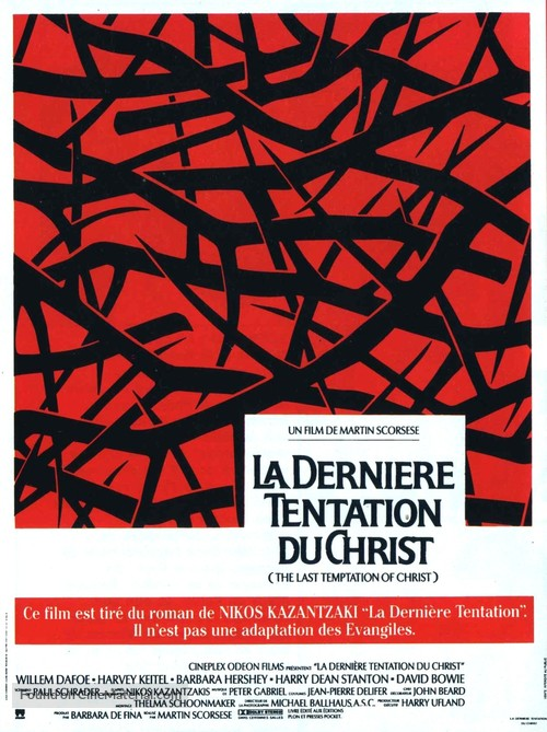 The Last Temptation of Christ - French Movie Poster