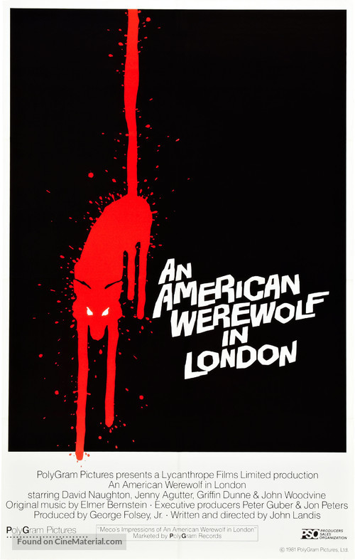 An American Werewolf in London - Theatrical movie poster