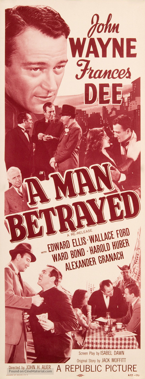 A Man Betrayed - Movie Poster