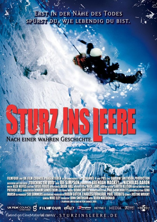 Touching the Void - German Movie Poster