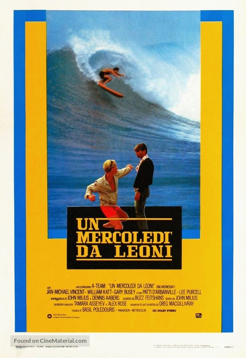 Big Wednesday - Italian Movie Poster