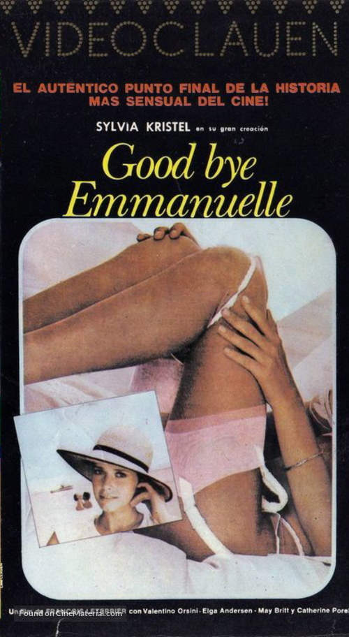 Good-bye, Emmanuelle - Argentinian Movie Cover