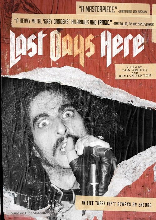 Last Days Here - DVD cover
