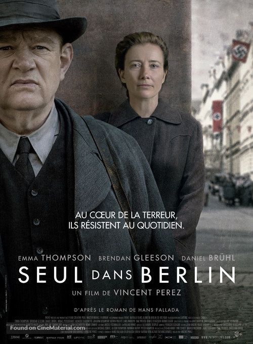 Alone in Berlin - French Movie Poster