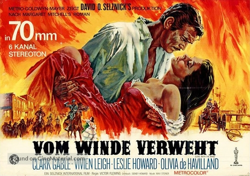 Gone with the Wind - German Movie Poster