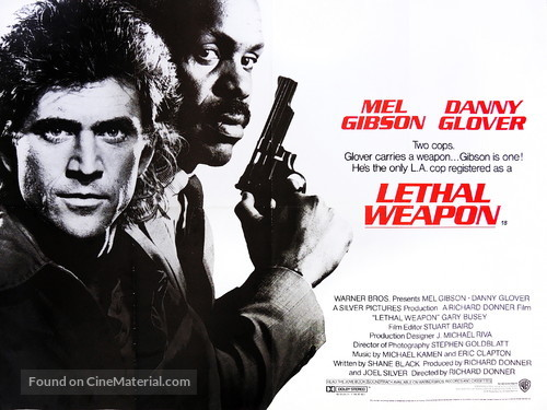 Lethal Weapon - British Movie Poster