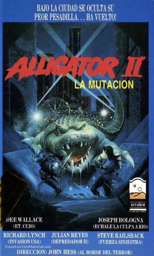 Alligator II: The Mutation - Argentinian VHS movie cover