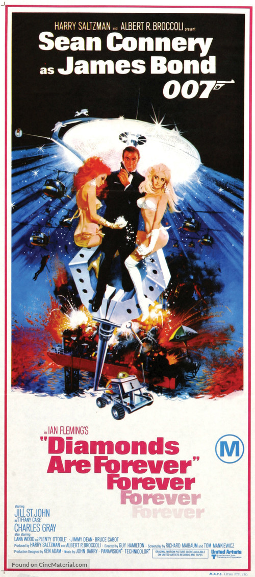 Diamonds Are Forever - Australian Theatrical movie poster