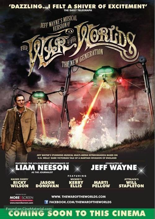 Jeff Wayne's Musical Version of the War of the Worlds Alive on Stage! The New Generation - British Movie Poster