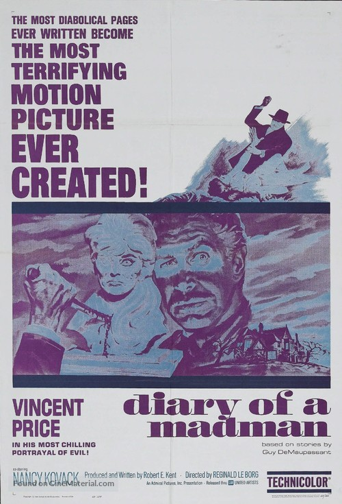 Diary of a Madman - Movie Poster