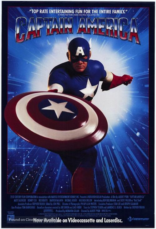 Captain America - Video release movie poster