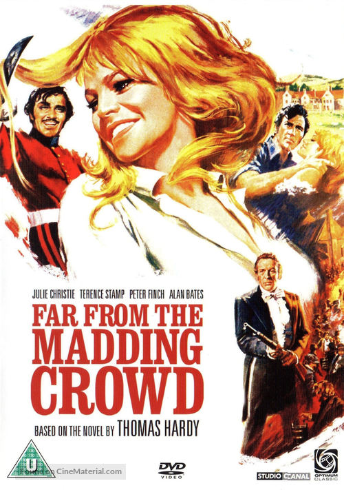 Far from the Madding Crowd (1967) British dvd movie cover