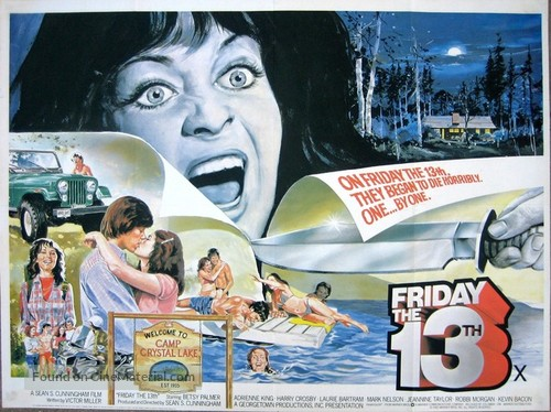 Friday the 13th - British Movie Poster