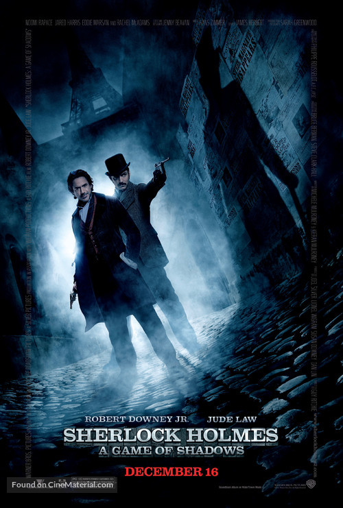 Sherlock Holmes: A Game of Shadows - Movie Poster