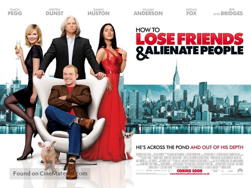 How to Lose Friends & Alienate People - British Movie Poster