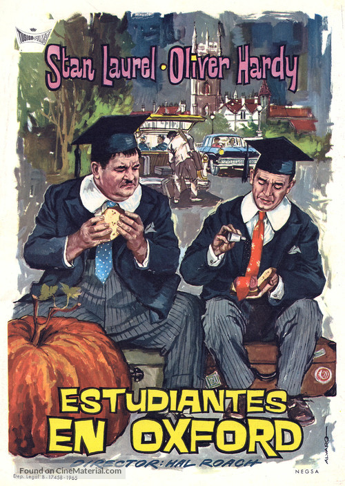 A Chump at Oxford - Spanish Theatrical movie poster