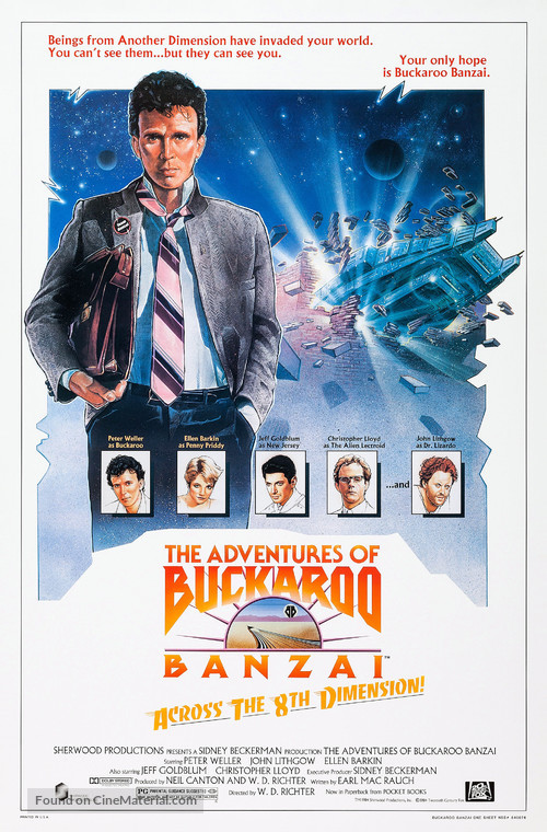 The Adventures of Buckaroo Banzai Across the 8th Dimension - Movie Poster