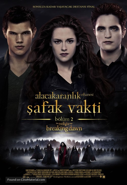 The Twilight Saga: Breaking Dawn - Part 2 - Turkish Movie Poster