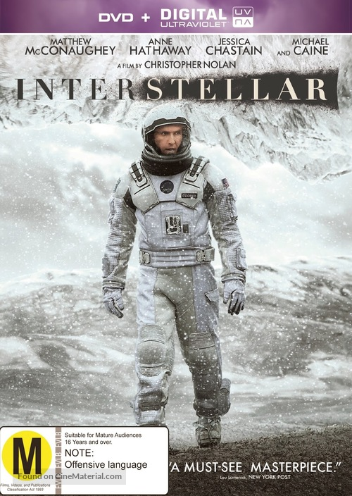 Interstellar - New Zealand Movie Cover