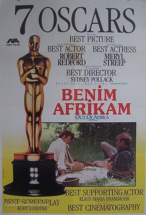 Out of Africa - Turkish Movie Poster