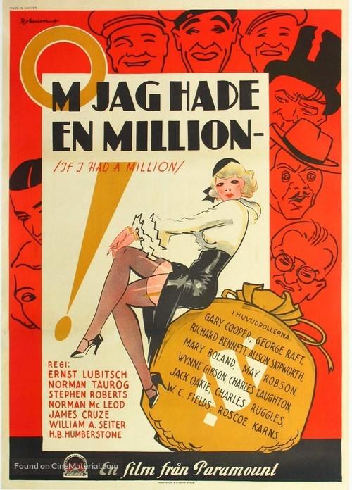 If I Had a Million - Swedish Movie Poster