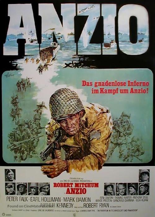 Lo Sbarco di Anzio - German Movie Poster
