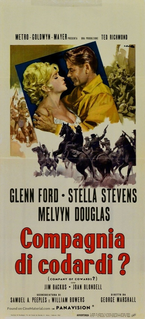 Advance to the Rear - Italian Movie Poster