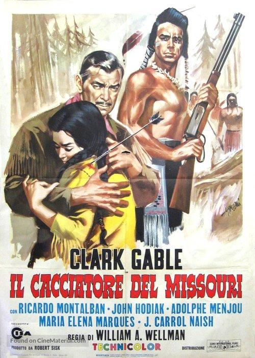 Across the Wide Missouri - Italian Movie Poster