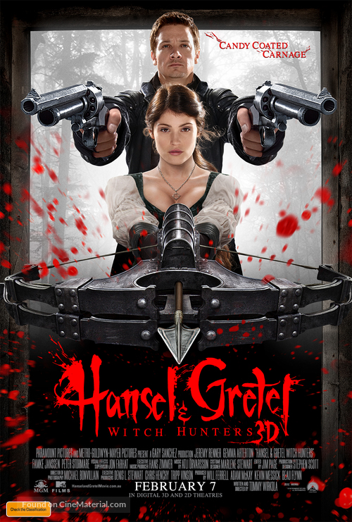 Hansel & Gretel: Witch Hunters - Australian Movie Poster