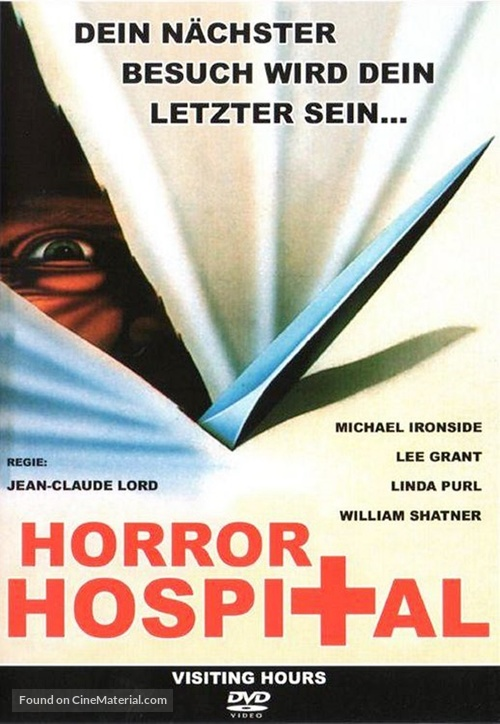 Visiting Hours - German DVD movie cover