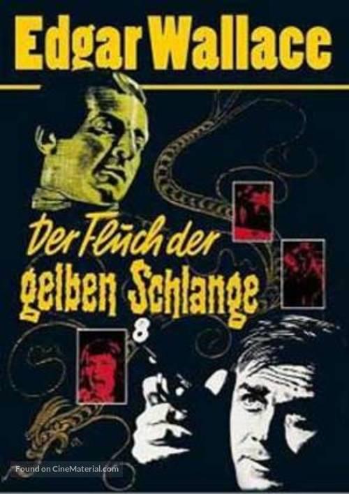 Der Fluch der gelben Schlange - German DVD movie cover