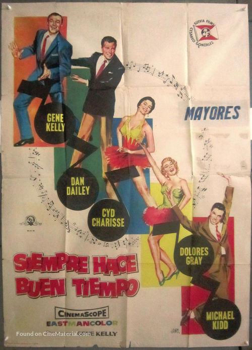 It's Always Fair Weather - Spanish Movie Poster