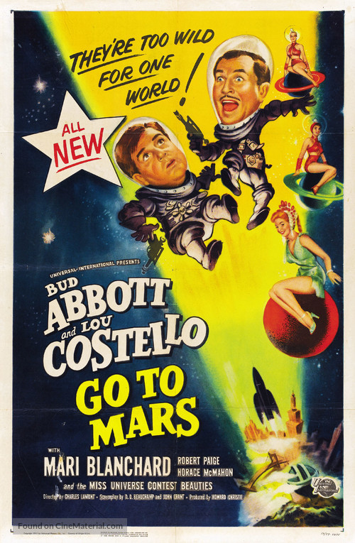 Abbott and Costello Go to Mars - Movie Poster