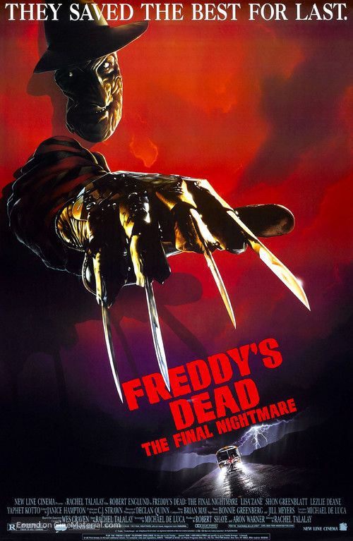 Freddy's Dead: The Final Nightmare - Theatrical movie poster