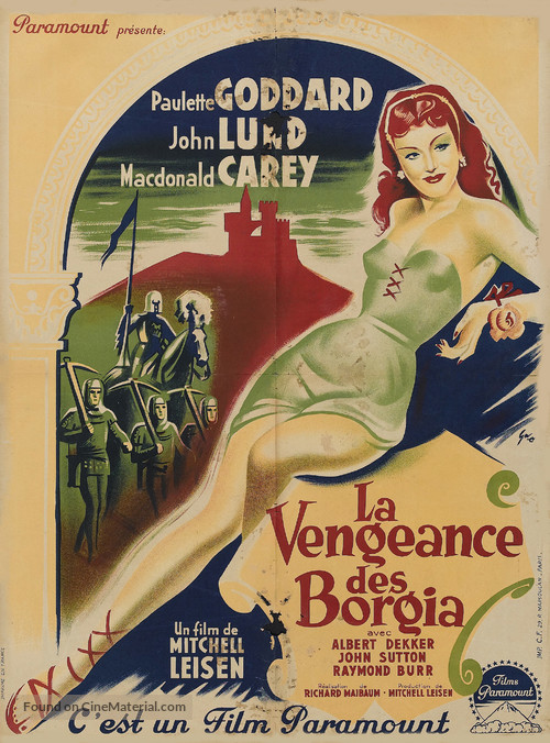 Bride of Vengeance - French Movie Poster