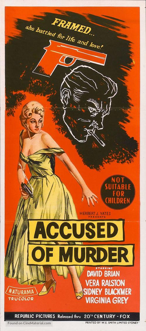 Accused of Murder - Australian Movie Poster