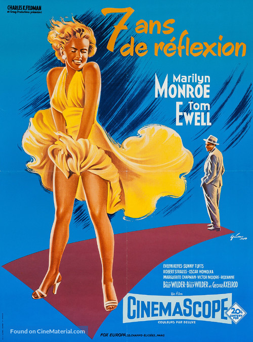 The Seven Year Itch - French Movie Poster