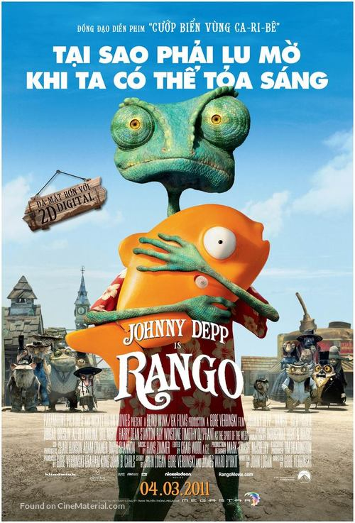 Rango - Vietnamese Movie Poster