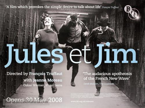 Jules Et Jim - British Movie Poster
