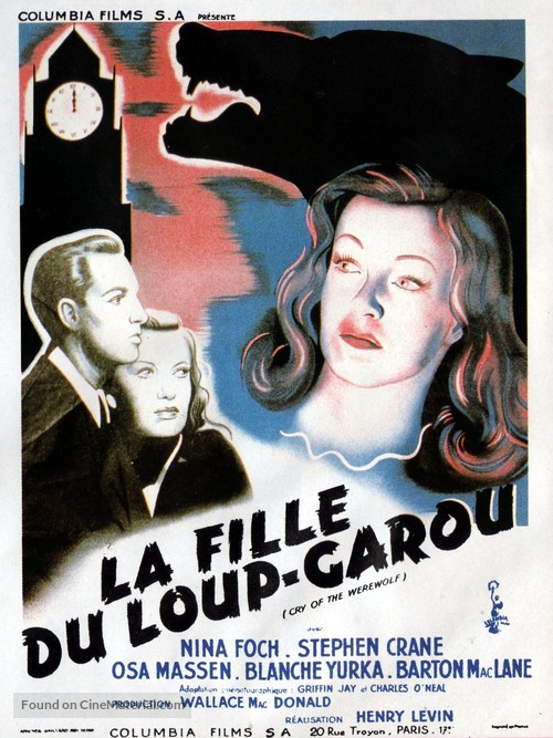 Cry of the Werewolf - French Theatrical movie poster