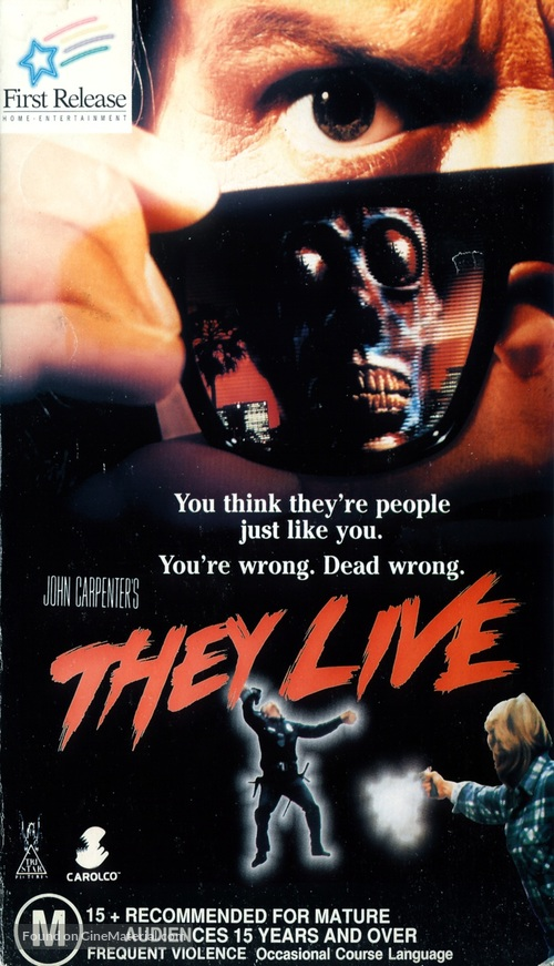 They Live - Australian VHS movie cover