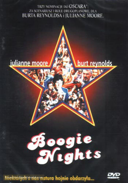 Boogie Nights - Polish DVD movie cover