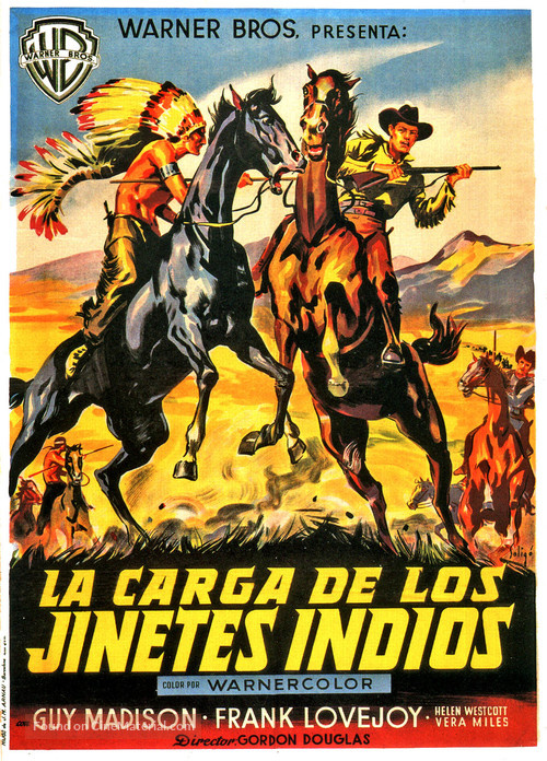 The Charge at Feather River - Spanish Movie Poster