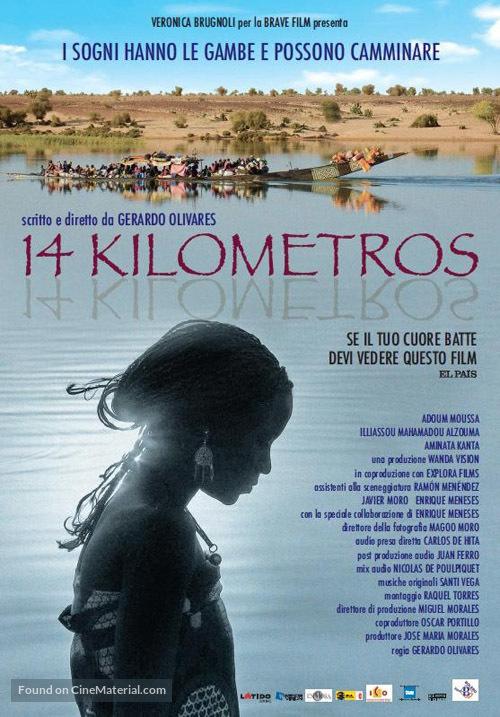 14 kilómetros - Italian Movie Poster