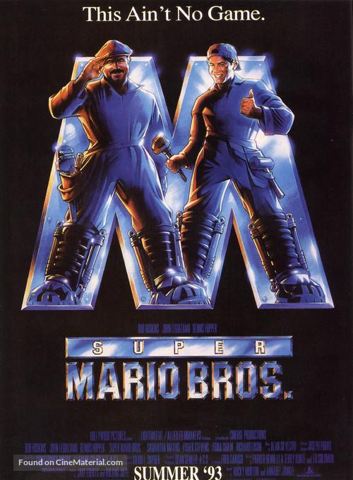Super Mario Bros. - Advance movie poster