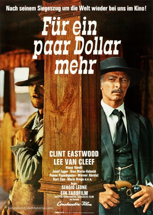Per qualche dollaro in più - German Re-release movie poster