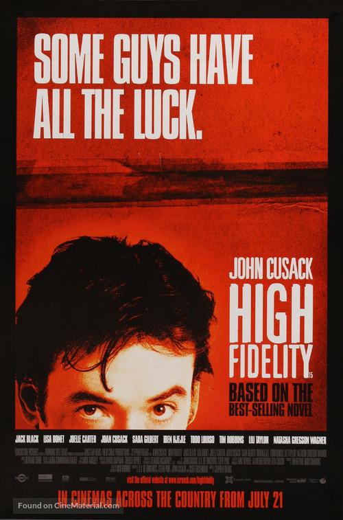 High Fidelity - British Movie Poster