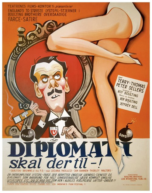 Carlton-Browne of the F.O. - Danish Movie Poster